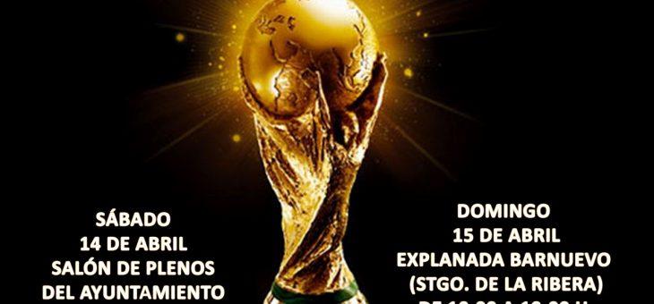 La copa del mundo y la eurocopa visitan San Javier y Santiago de la Ribera